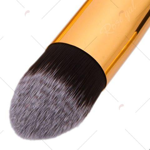 Chic 3Pcs Portable Beauty Makeup Brushes Set For Face - BLACK AND GOLDEN  Mobile