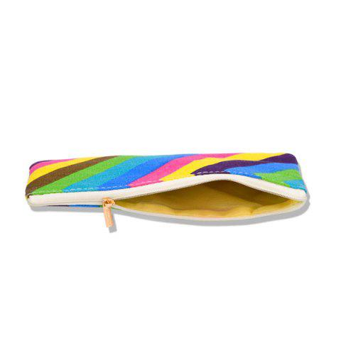 New Rainbow Striped Makeup Bag