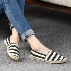 Striped Two Tone Casual Shoes - BLACK
