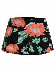 Floral Plus Size Mini Swim Skirt