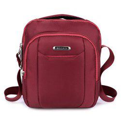 Casual Nylon Zips Crossbody Bag -