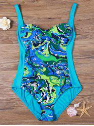 Padded Print One Piece Swimsuit