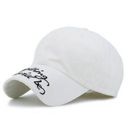 Curved Brim Letters Printed Baseball Hat - OFF-WHITE