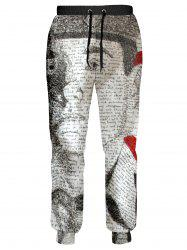 Drawstring Graphic Pattern Patriotic Jogger Pants