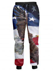 American Flag Eagle Printed Jogger Pants