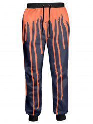 Drawstring Splashed Paint Jogger Pants