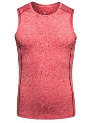 Quick Dry Crew Neck Slim Fit Training Tank Top - WATERMELON RED