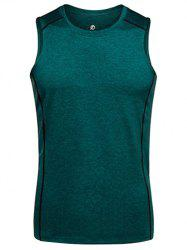 Quick Dry Crew Neck Slim Fit Training Tank Top - Vert Foncé XL