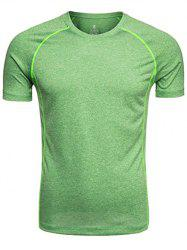 Raglan Sleeve Crew Neck Quick Dry Training T-shirt