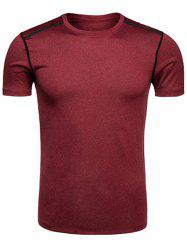Crew Neck Quick Dry Selvedge Embellished Training T-shirt