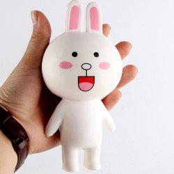 PU Slow Rising Squishy Rabbit Cartoon Animal Toy - WHITE