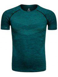 Raglan Sleeve Crew Neck Quick Dry Printed Training T-shirt