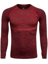 Long Sleeve Polka Dot Print Quick Dry Training T-shirt