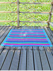 Rectangle Chiffon Flower Printing Striped Beach Throw