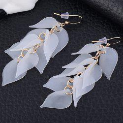 Petals Design Hook Earrings - WHITE