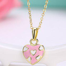 Pleting Heart Design Pendant Necklace