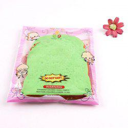 1Pcs Toast Slice Piece Bread Slow Rising Squishy Toy - Bleu