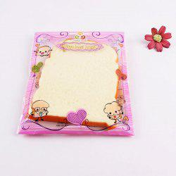 1Pcs Toast Slice Piece Bread Slow Rising Squishy Toy - BEIGE