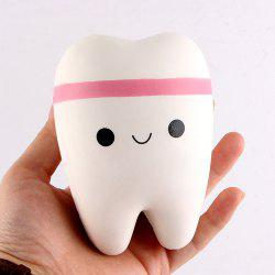 Anti Stress Cartoon Tooth Slow Rising Squishy Toy - WHITE