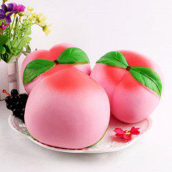 Stress Relief Peach Shape Slow Rising Squishy Toy - PINK