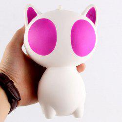 Anti Stress Cartoon Big Eyes Cat Squishy Toy - PINK
