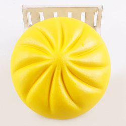 Anti Stress Bun Shape Squishy Charm Toy - YELLOW