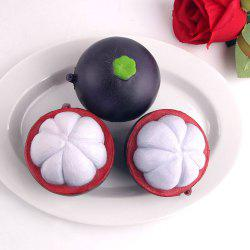 Stress Relief Fruit Mangosteen Shape Squishy Toy - Noir