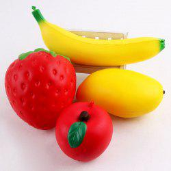 Simulation Strawberry Banana Apple Shape Squishy Toys