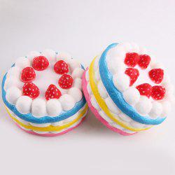 1Pcs Slow Rising Strawberry Cake Squeeze Squishy Toy - COLORFUL