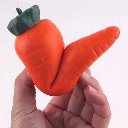 Carrot Cartoon Slow Rising Squishy Toy - ORANGE YELLOW