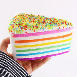 Decompression Layered Rainbow Cake Squishy Charms Toy - COLORFUL