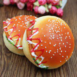 1Pcs Simulation Hamburger Model Squishy Toy - ORANGE RED