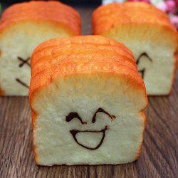 Emoticon Simulation Bread Slow Rising Squishy Toy - ORANGE