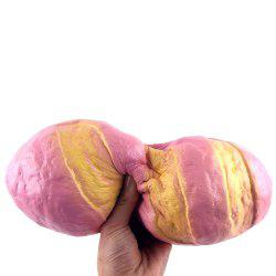 Anti Stress PU Simulation Bread Squishy Toy - PINK