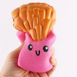 Chips Shape Soft Slow Rising Squishy Toy - ROSE PÂLE