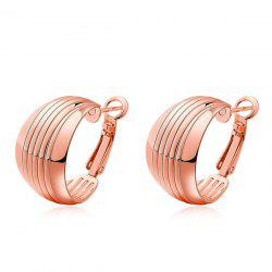 Wide Plated Line Hoop Earrings