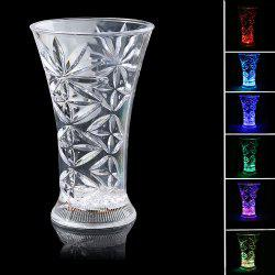 LED Luminous Inductive Rainbow couleur Flash Snowflake Cup -