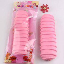 1Pcs Caterpillar Bread Slow Rising Squishy Toy - ROSE PÂLE