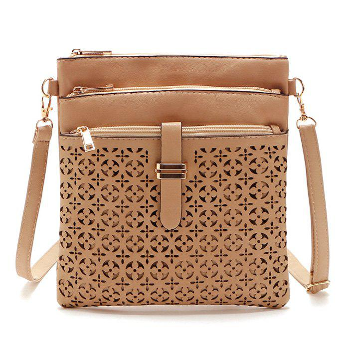 Outfits Hollow Out PU Leather Crosbody Bag