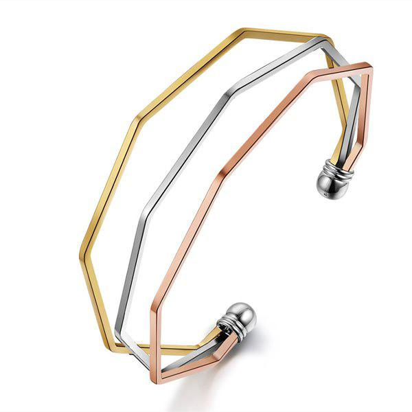 New Alloy Metal Geometric Cuff Bracelet