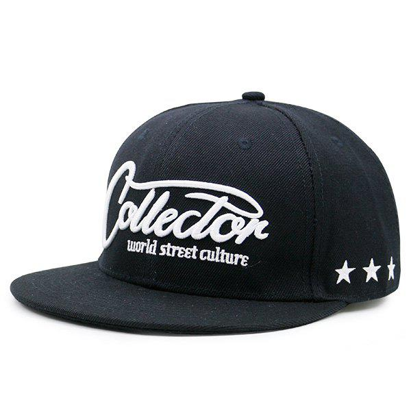 Discount Letters Stars Embroidered Flat Brim Baseball Hat