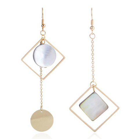 Fancy Disc Geometric Long Drop Earrings