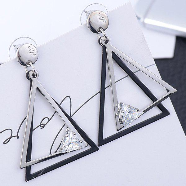 Affordable Rhinestone Hollow Out Geometric Earrings