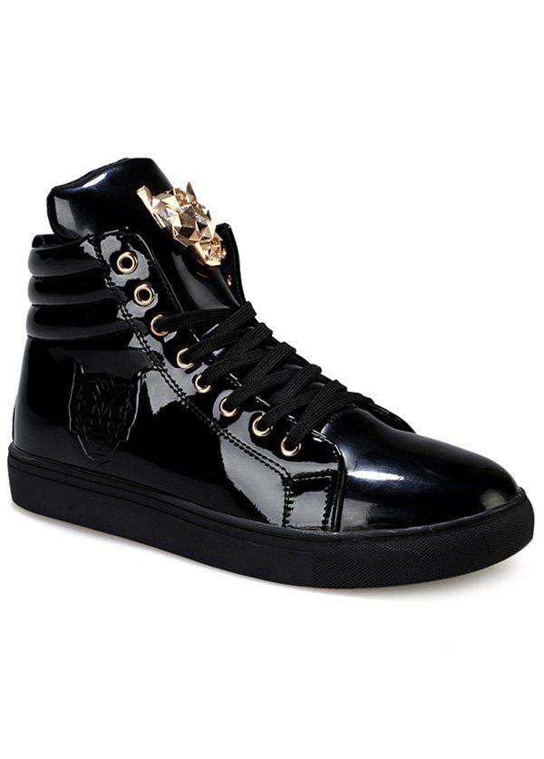 Shops Stylish High Top and Metal Design Casual Shoes For Men