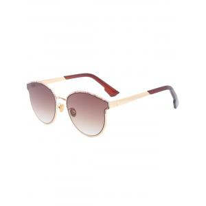 Sunscreen Butterfly Piebald Frame Spliced Sunglasses