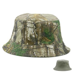 Reversible Camo with Solid Color Bucket Hat