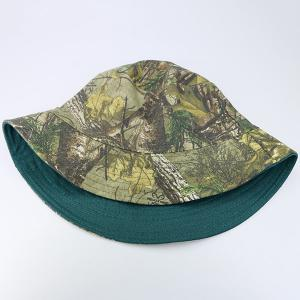 Reversible Camo with Solid Color Bucket Hat - BLACKISH GREEN
