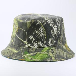 Camouflage with Pure Color Reversible Bucket Hat -