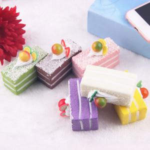 Random Slow Rising Fruit Cake PU Squishy Toy -