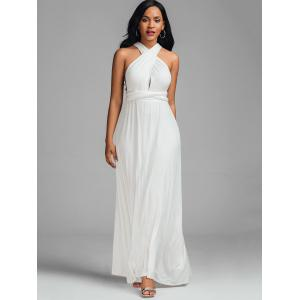 Sleeveless Plunging Maxi Engagement Dress -
